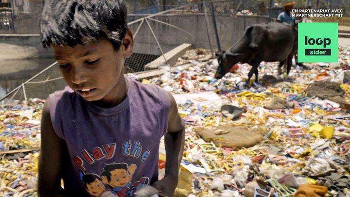 Müllberg in Delhi