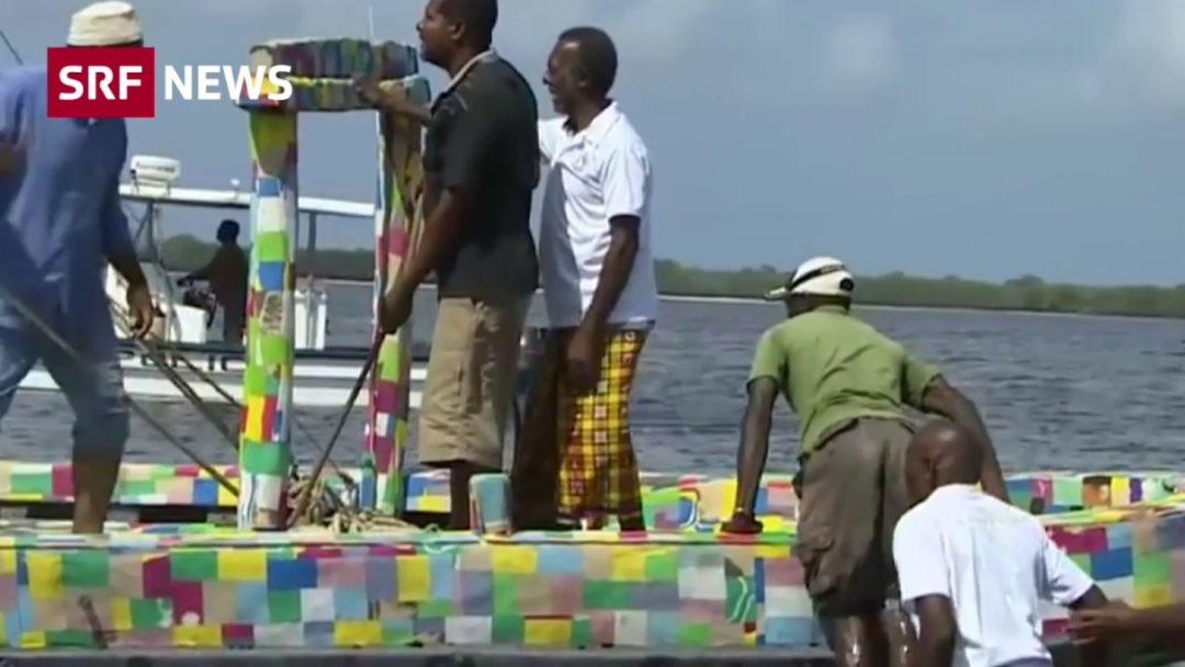 Ein Boot aus flip-Flops
