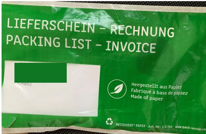 """""""Päckli"""" – Lieferschein / Rechnung"""