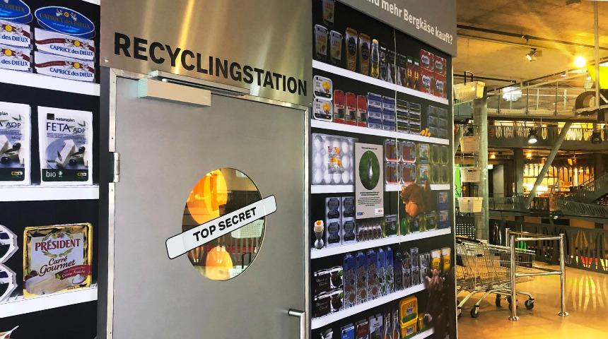 Ausstellung zum thema Plastikverpackungen