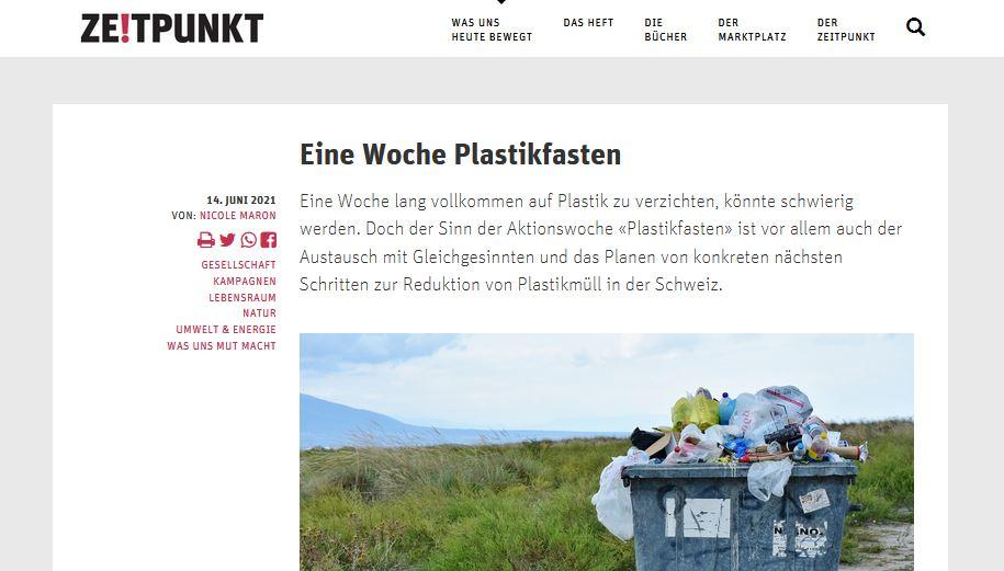 Plastikfasten wird bemerkt